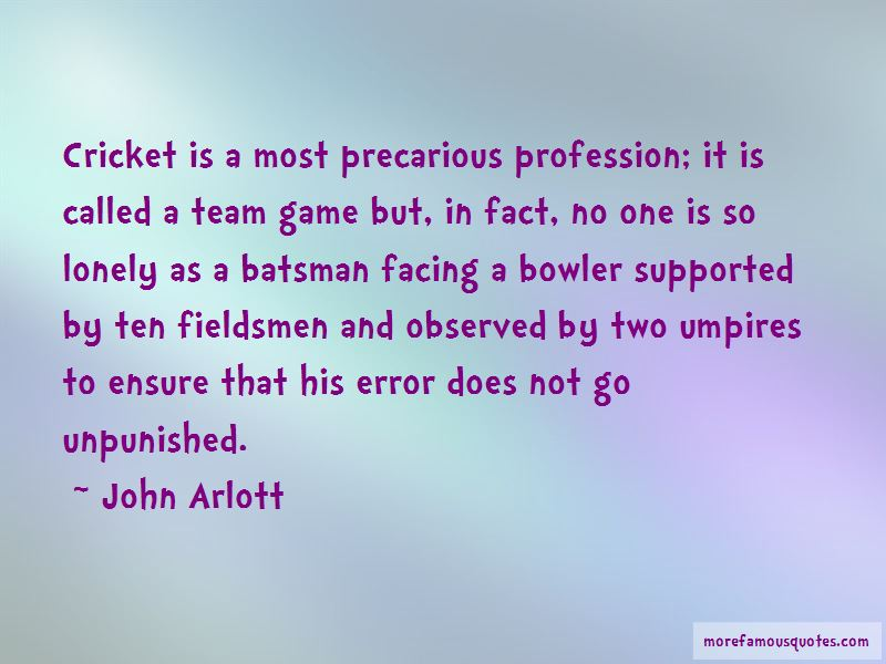 John Arlott Quotes