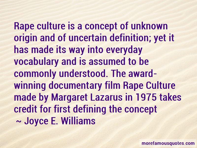 Joyce E. Williams Quotes