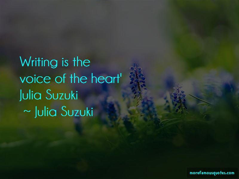 Julia Suzuki Quotes