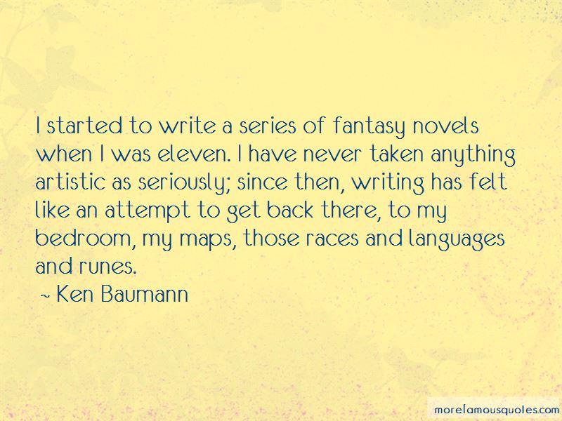 Ken Baumann Quotes Pictures 2