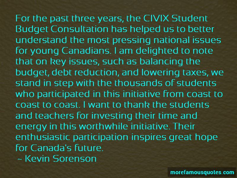 Kevin Sorenson Quotes