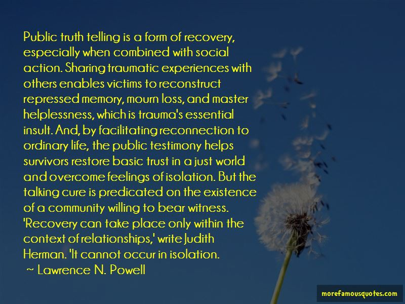 Lawrence N. Powell Quotes