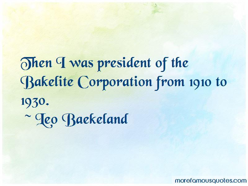 Leo Baekeland Quotes