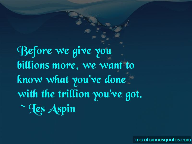 Les Aspin Quotes Pictures 4