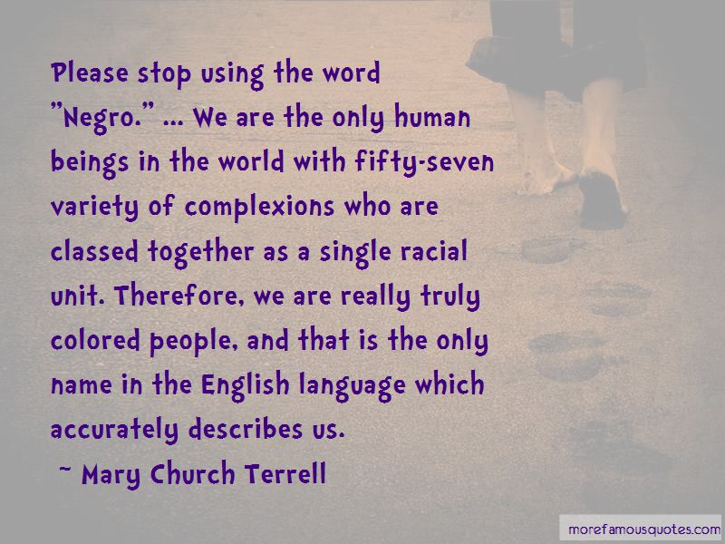 Mary Church Terrell Quotes