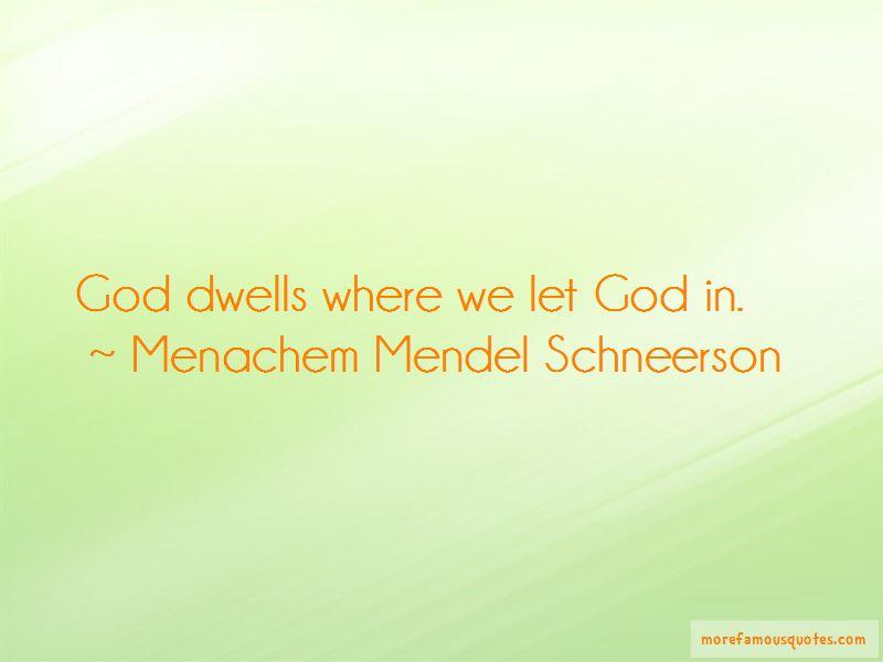 Menachem Mendel Schneerson Quotes