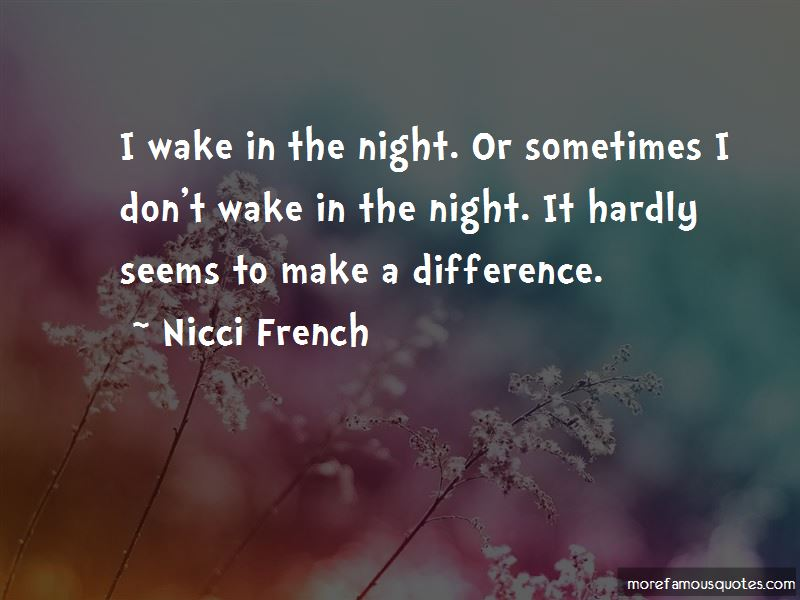 Nicci French Quotes