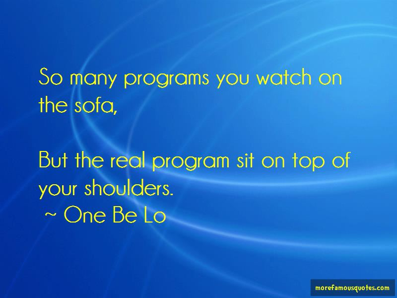 One Be Lo Quotes