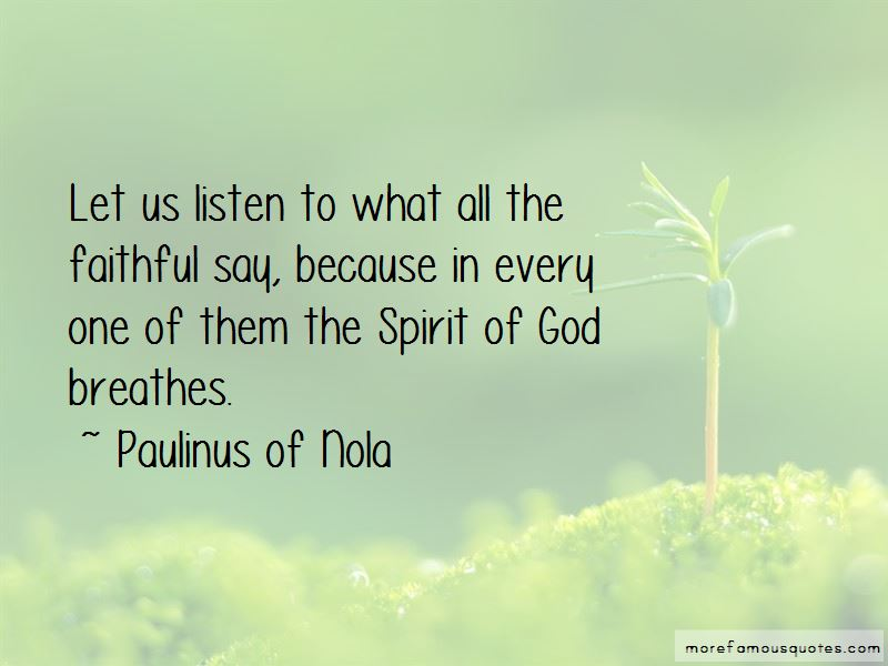 Paulinus Of Nola Quotes