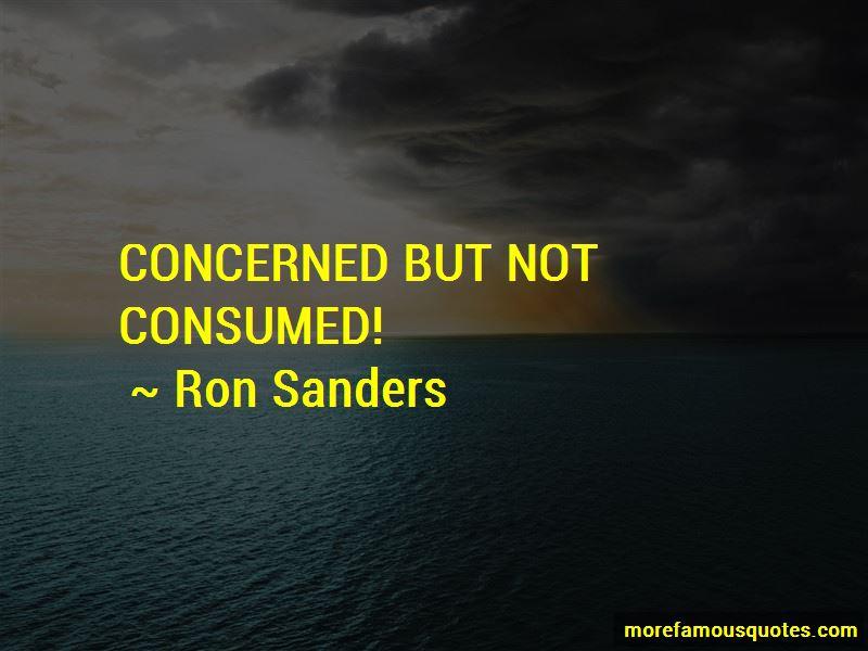 Ron Sanders Quotes