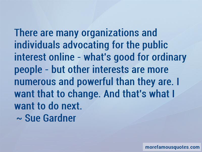Sue Gardner Quotes