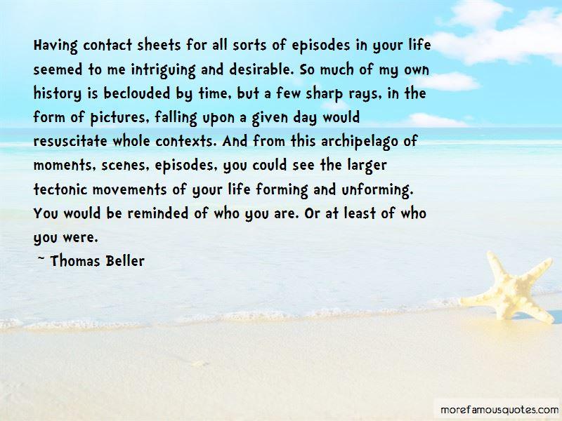 Thomas Beller Quotes