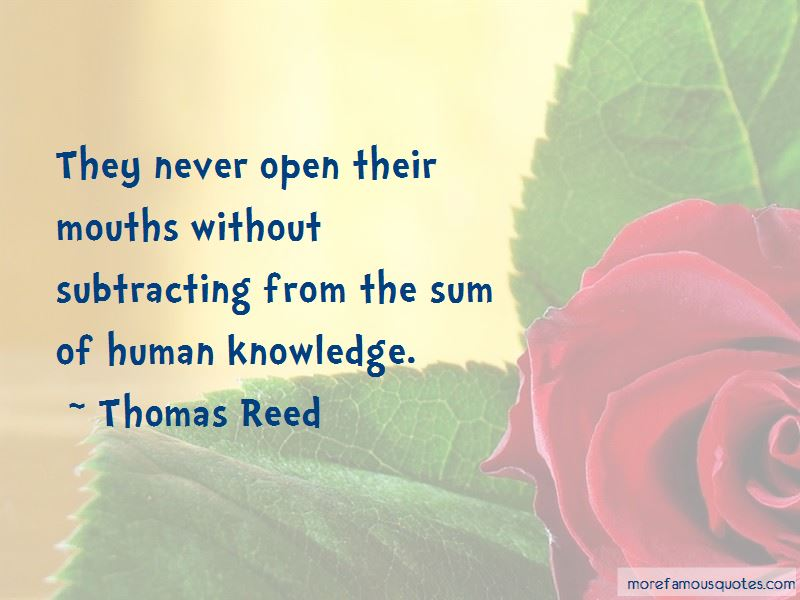 Thomas Reed Quotes Pictures 2