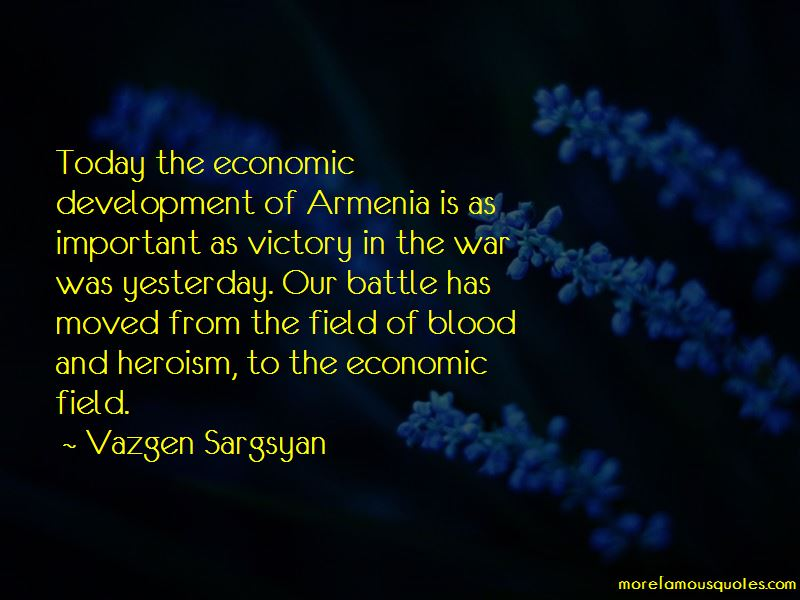 Vazgen Sargsyan Quotes