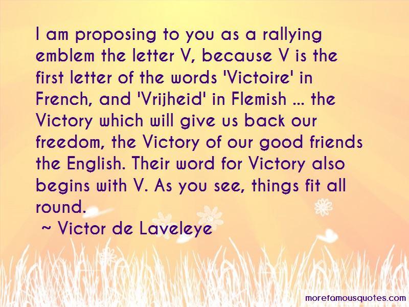 Victor De Laveleye Quotes
