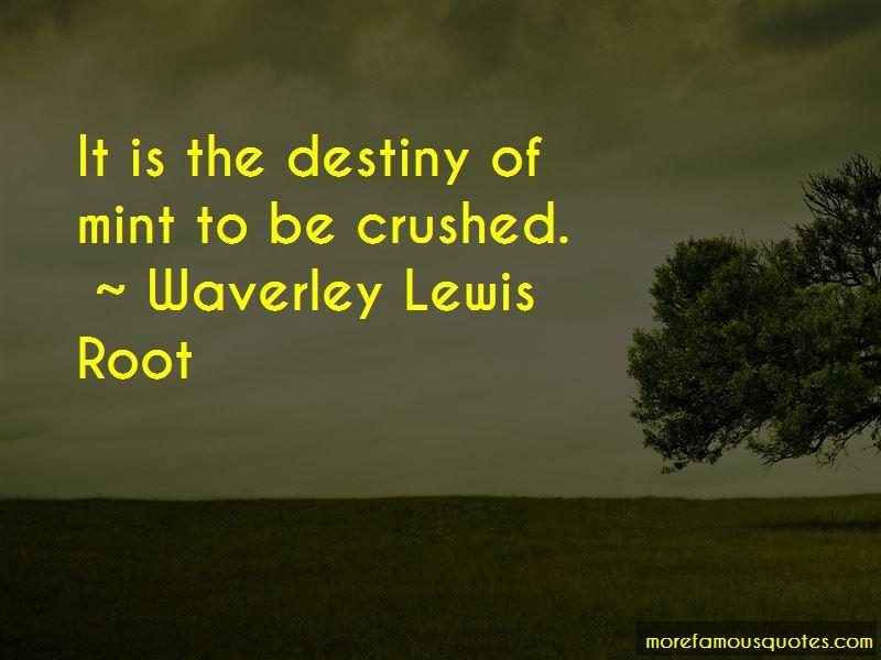 Waverley Lewis Root Quotes