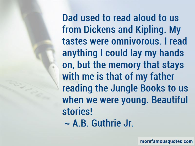 A.B. Guthrie Jr. Quotes