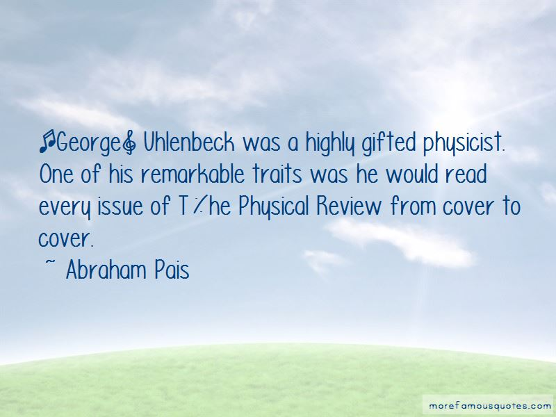 Abraham Pais Quotes Pictures 2