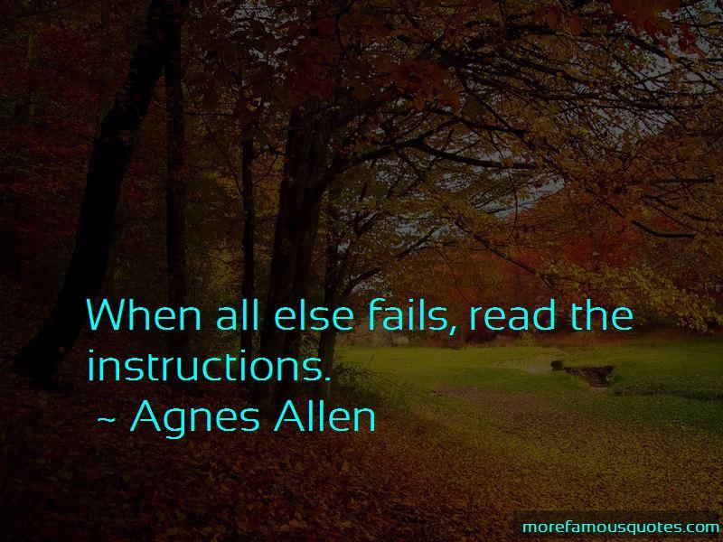 Agnes Allen Quotes Pictures 2