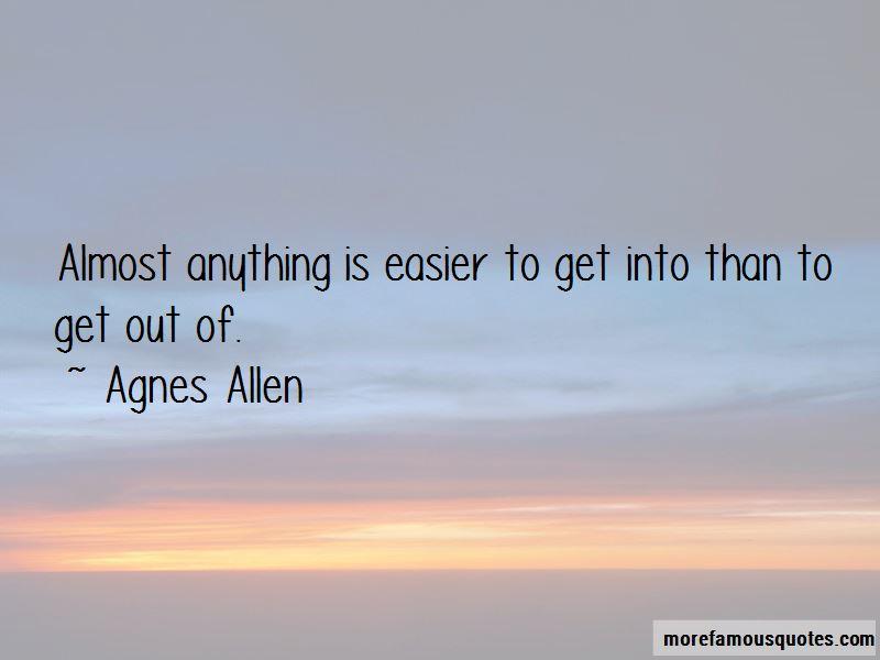 Agnes Allen Quotes