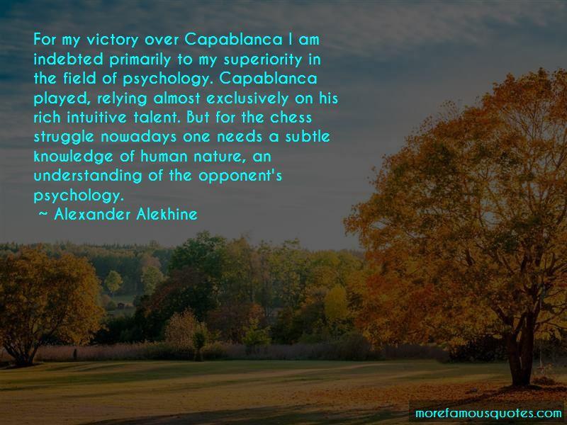 Alexander Alekhine Quotes Pictures 3