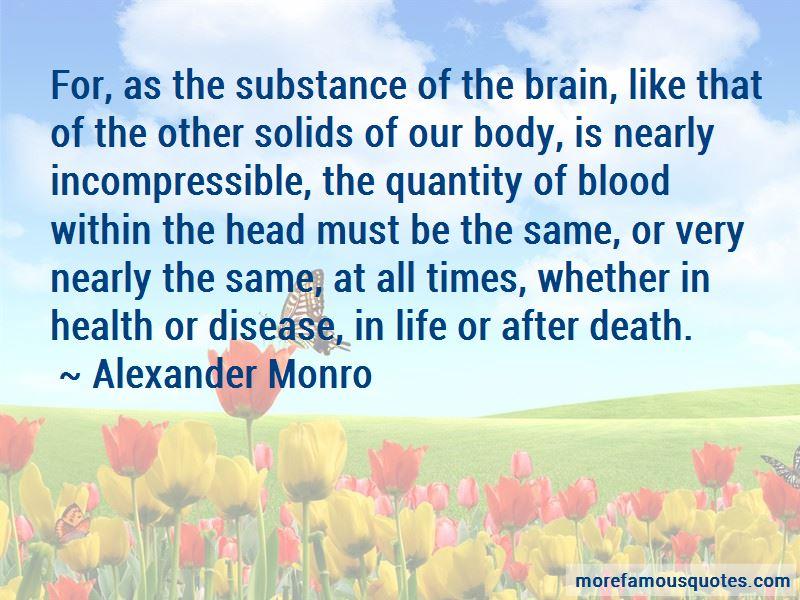 Alexander Monro Quotes