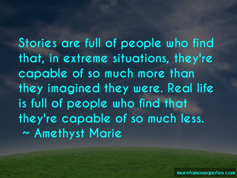Amethyst Marie Quotes