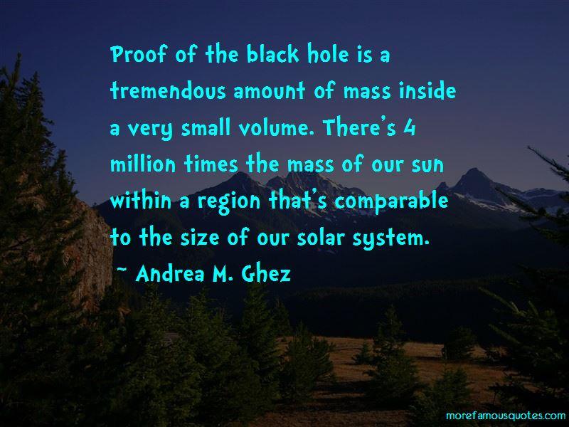Andrea M. Ghez Quotes