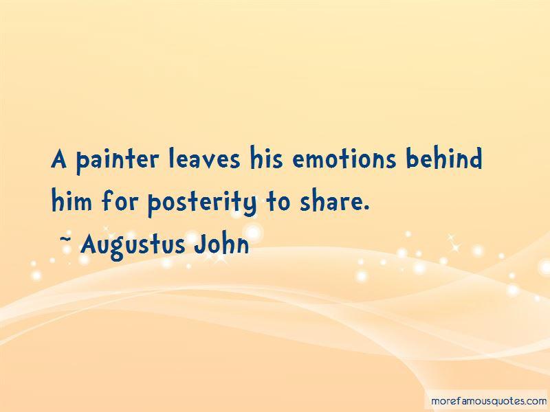 Augustus John Quotes