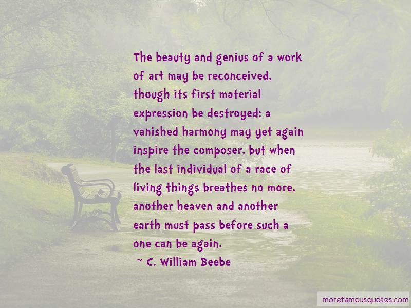 C. William Beebe Quotes