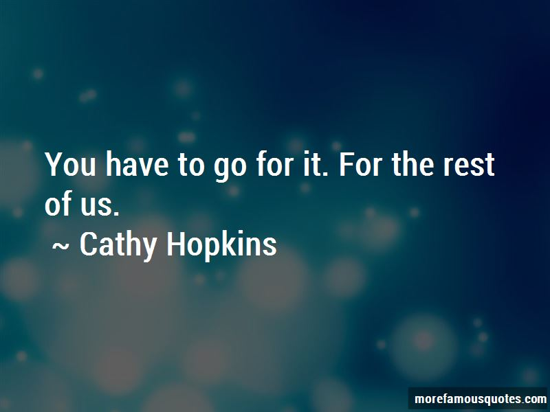 Cathy Hopkins Quotes Pictures 2