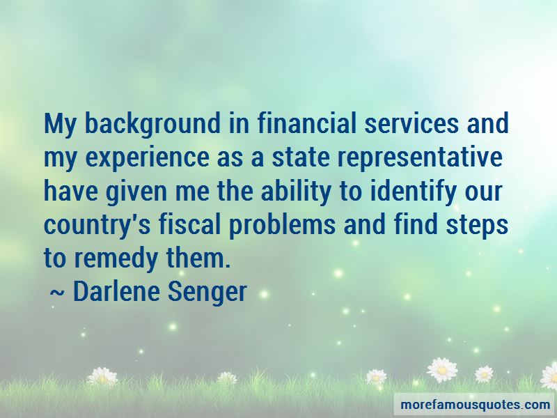 Darlene Senger Quotes