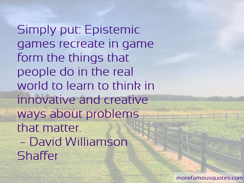 David Williamson Shaffer Quotes Pictures 2