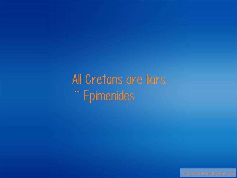 Epimenides Quotes
