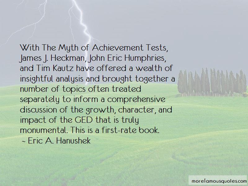 Eric A. Hanushek Quotes