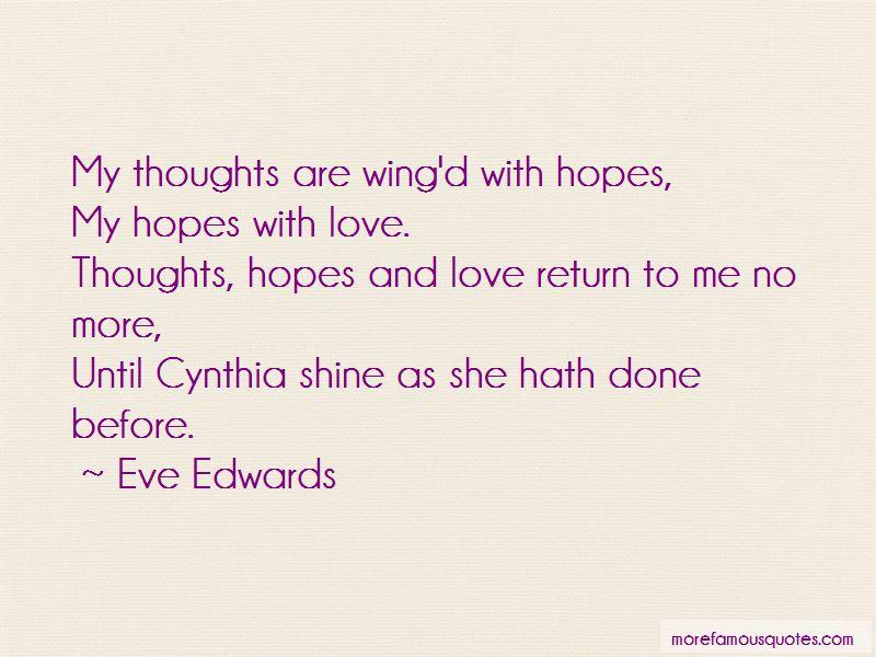 Eve Edwards Quotes