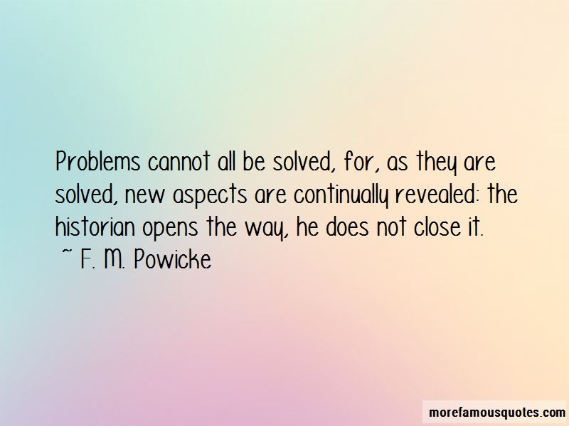 F. M. Powicke Quotes Pictures 2