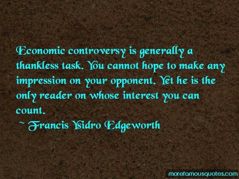 Francis Ysidro Edgeworth Quotes