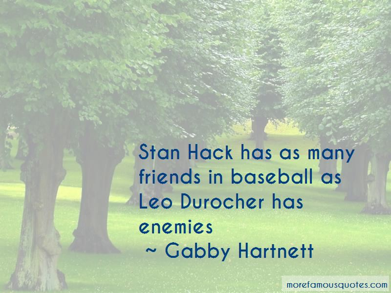 Gabby Hartnett Quotes