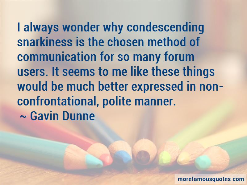Gavin Dunne Quotes