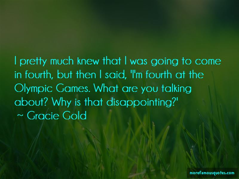 Gracie Gold Quotes