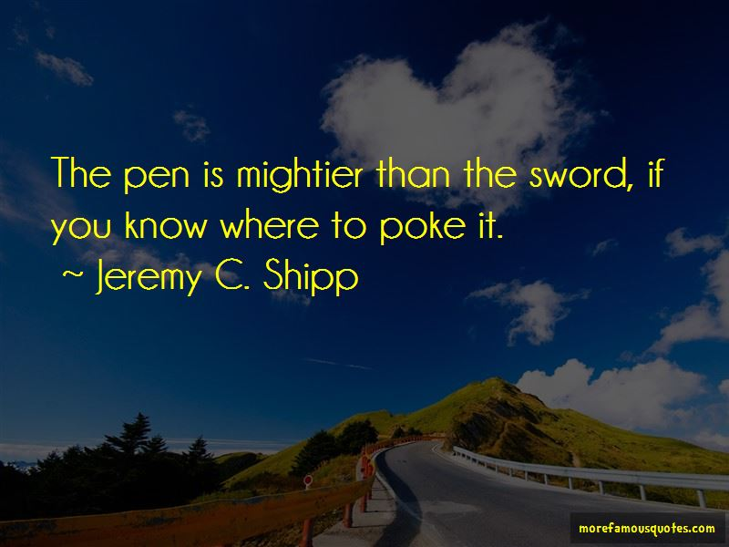 Jeremy C. Shipp Quotes