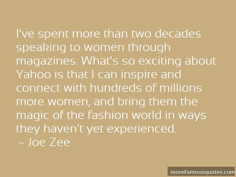 Joe Zee Quotes