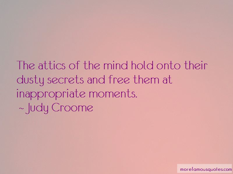 Judy Croome Quotes