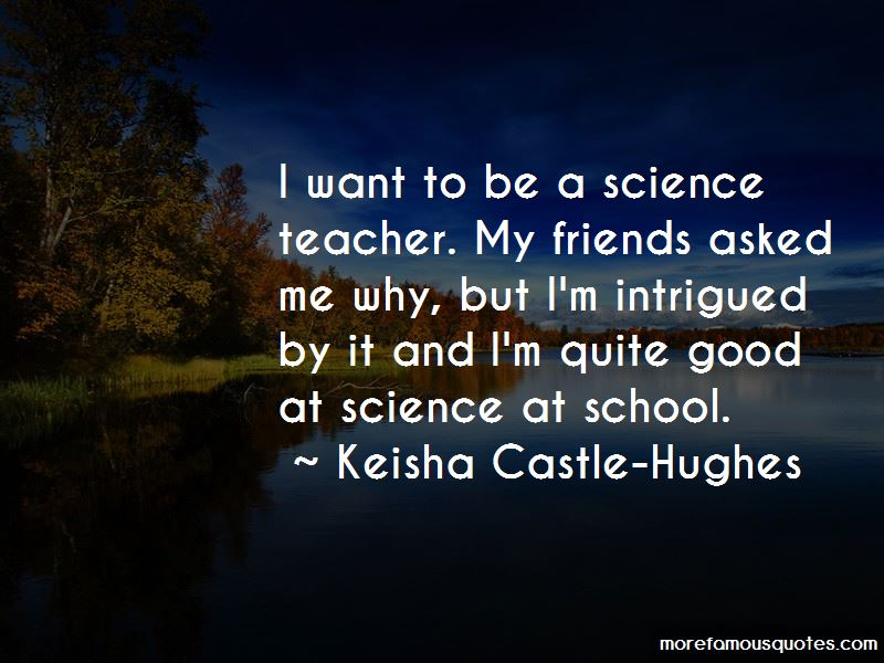 why want science teacher
