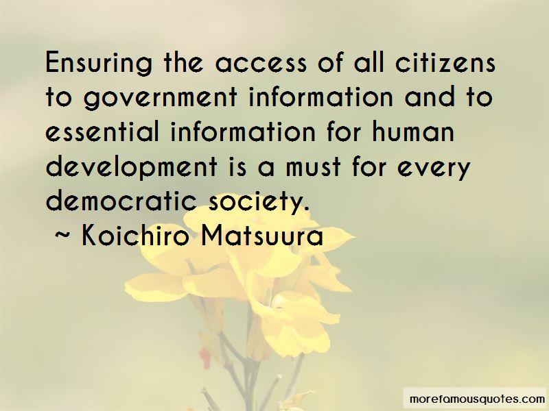 Koichiro Matsuura Quotes Pictures 2