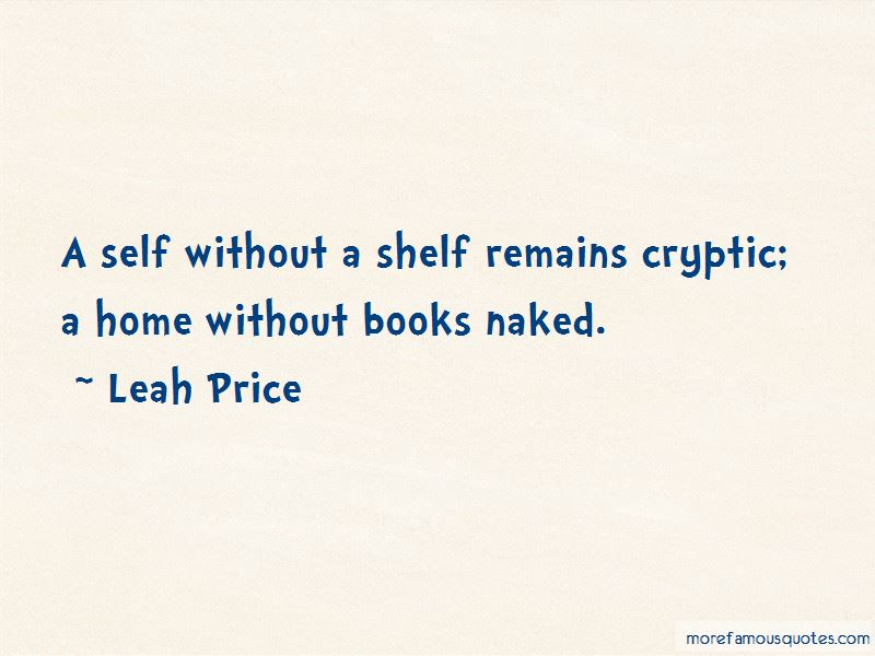 Leah Price Quotes