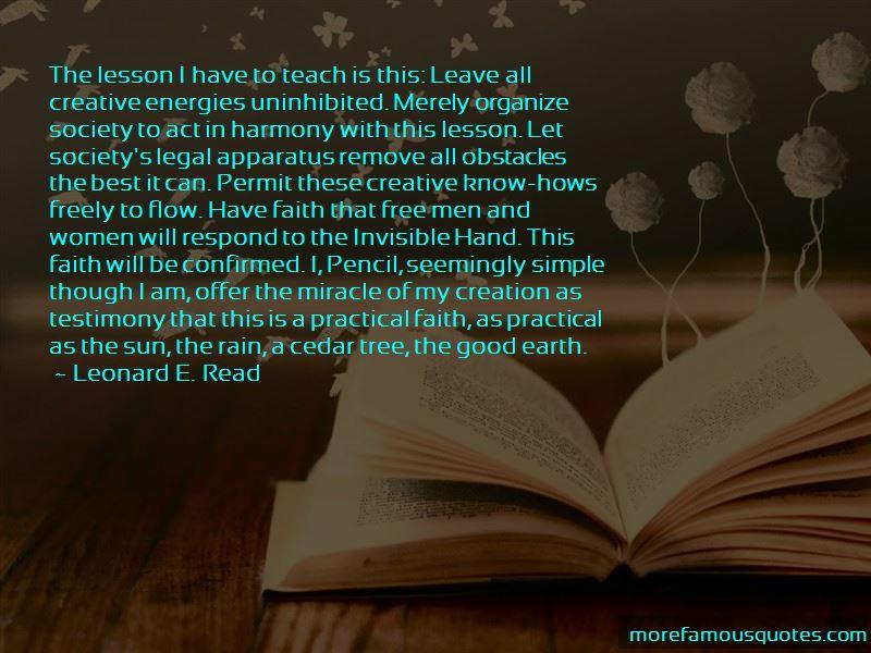 Leonard E. Read Quotes