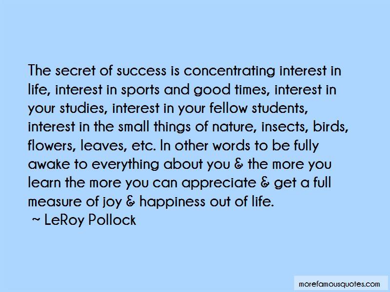 LeRoy Pollock Quotes