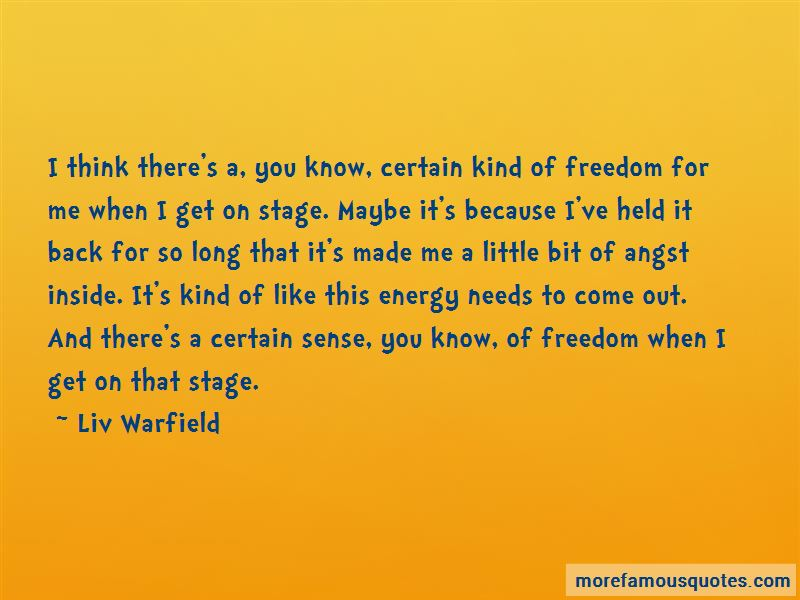 Liv Warfield Quotes Pictures 2